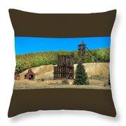 The Hoosier Mine Throw Pillow