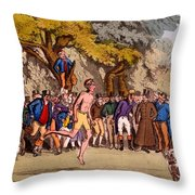 The Hopping Match On Clapham Common Throw Pillow