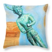 The Horned God From Egkomi .  Throw Pillow