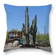 The Horny Toad Throw Pillow