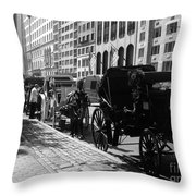 The Horse And Buggy Lineup Throw Pillow