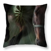 The Horse And The Dandelion Throw Pillow