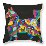 The Horse Of Good Fortune Throw Pillow