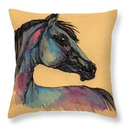 The Horse Portrait 1 Throw Pillow