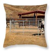 The Horse Ranch 3 Throw Pillow