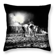 The Horse That Suffered  Throw Pillow