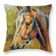 The Horse's Head Throw Pillow