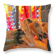 The Horses Throw Pillow