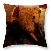 The Horses Of Mars Throw Pillow