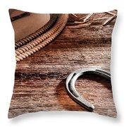 The Horseshoe Throw Pillow