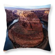 The Horseshoe River At Ultra High Resolution Throw Pillow