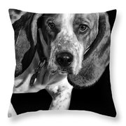 The Hound Throw Pillow by Camille Lopez