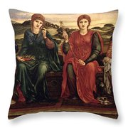 The Hours, 1870-82 Throw Pillow