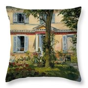 The House At Rueil Throw Pillow