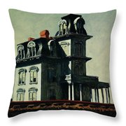 The House By The Railroad Throw Pillow