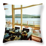 The House Of Mr. And Mrs. Alfred Rose On Lake Throw Pillow