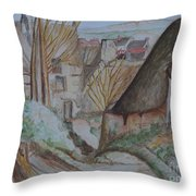 The House Of The Hanged Man After Cezanne Throw Pillow