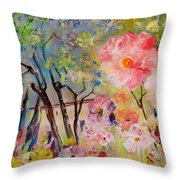 The House Of The Rising Flowers Throw Pillow