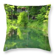 The House On The Bank Of The Lake Throw Pillow