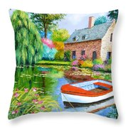 The House Pond Throw Pillow