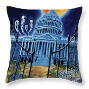 The House Republicans Haunt The Captiol Building Throw Pillow