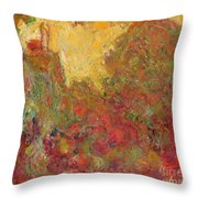 The House Seen From The Rose Garden Throw Pillow by Claude Monet