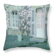 The House With Roses Throw Pillow