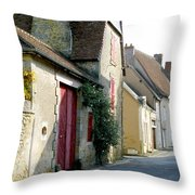 The House With The Red Doors Throw Pillow