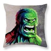 The Hulk Throw Pillow