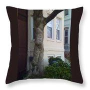 The Human Tree Throw Pillow