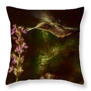 The Hummingbird Digital Art Throw Pillow