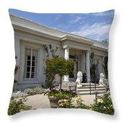 The Huntington Library Rose Garden Tea House Throw Pillow