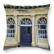 The Huntsman Pub In Bath 8456 Throw Pillow