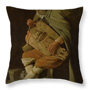 The Hurdy Gurdy Player Throw Pillow