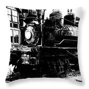 The Hurricane Express Homage 1932 19th Century Locomotive Ghost Town Nevada City Montana Throw Pillow
