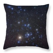 The Hyades Cluster With Aldebaran Throw Pillow