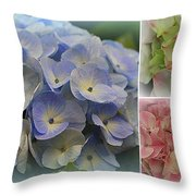 The Hydrangeas Of Late Spring Throw Pillow