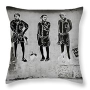 Homage To Banksy Throw Pillow