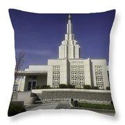 The Idaho Falls Mormon Temple Throw Pillow