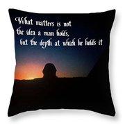 The Idea Throw Pillow