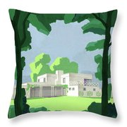 The Ideal House In House And Gardens Throw Pillow
