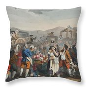 The Idle Prentice Executed At Tyburn Throw Pillow