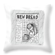 The Image Is The Front Cover Of New Dread: Throw Pillow