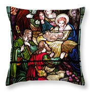 The Incarnation - Madonna And Child Throw Pillow