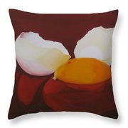 The Incredible Egg Throw Pillow by Roseann Gilmore