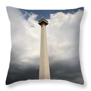 The Independence Monument Throw Pillow
