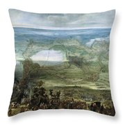 The Infanta Isabella Clara Eugenia At The Siege Of Breda Of 1624 Throw Pillow