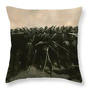 The Infantry Square Throw Pillow