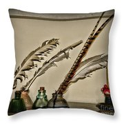 The Inkwell Throw Pillow