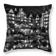 The Inn At Christmas Place Night Throw Pillow